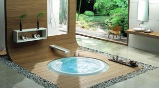 bathroom tub in the floor
