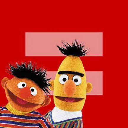 equality bert and ernie