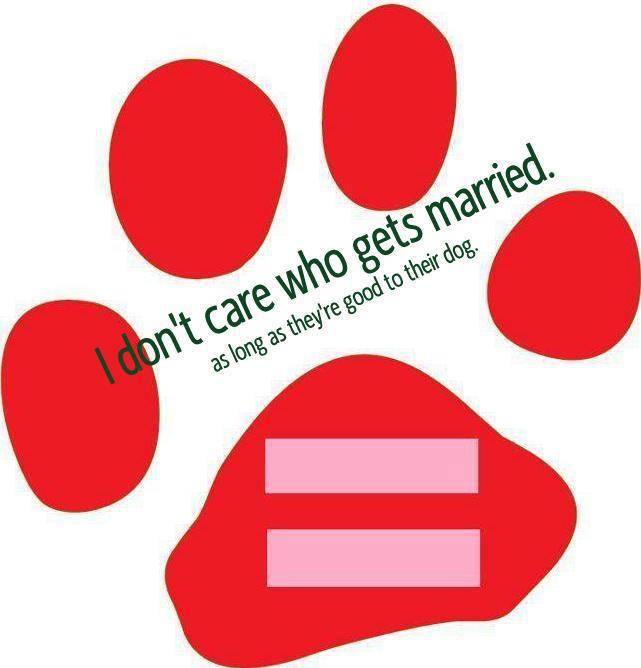 equality dog paw