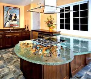 great kitchen glass counter