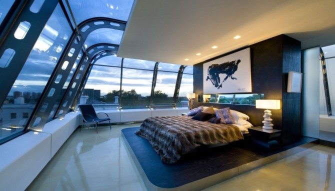 master bedroom futuristic