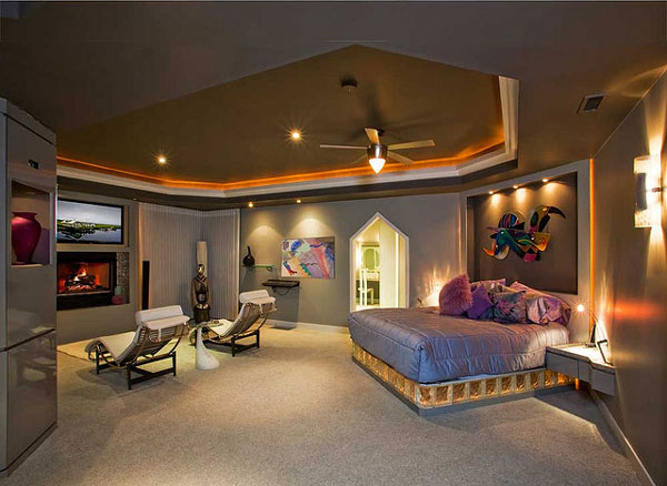master bedroom tv theater