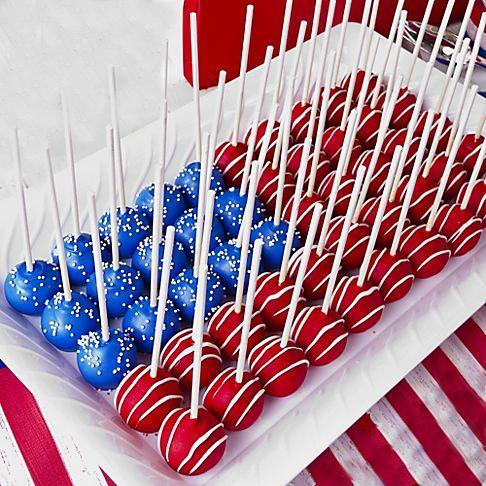 flag cake balls