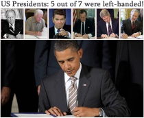 left handed presidetns