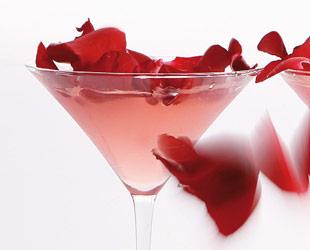 martini rose petal