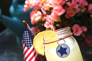 patriotic drink glass idea